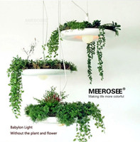 aluminum plant pots - IKEA Hanging Gardens of Babylon Plants Lamp pots potted Nordic Tom creative white chandelier lighting Without Plants and Flowers