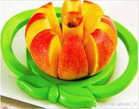 Wholesale 2015 Apple fruit Slicer Fruit Knife Apple Pear Corer Slicer Cutter Core Handed Wedger Fruit Easy Cut Apple cut stainless steel BBA3464