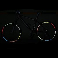 Wholesale 4x Fluorescent MTB Bike Bicycle Cycling Motorcycle Wheel Tire Tyre Reflective Stickers Decal Tape Safety Red