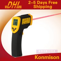 Wholesale Digital Infrared Temperature Laser Gun Thermometer Non Contact IR Laser Point to Degree High Temperature Thermometer