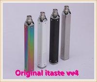 Cheap 2015 Innokin 100% Original Itaste VV V4 E Cigarette Kit 750mAh 1000mAh Available Variable Voltage E Cig Mod 510 Twist Itaste VV4