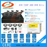 Wholesale HHDVISION CH AHD CCTV System CH P Megapixel AHD DVR Security Surveillance System Warterproof Night Vision IR CUT IR Camera DIY Kit