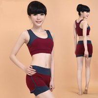 Wholesale 2015 New Arrivals Women Girls Yoga Outfits Modal Sports Clothes Set Gym Clothing Summer Loungewear High Quality