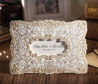 Wholesale 2014 New Style Hollow Out Gold Free Personalized Customized Printing Elegant Wedding Invitations Cards
