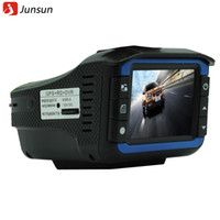 Wholesale New Car Anti Radar Detector detectors Camera DVR GPS In Speed detection HD P G sensor Support Russian voice