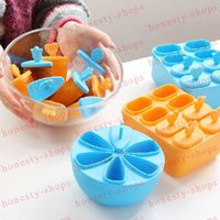 Wholesale Hot Sale set Summer DIY Ice Cream Pop Mold Frozen Ice lolly Icepop Block Maker Set