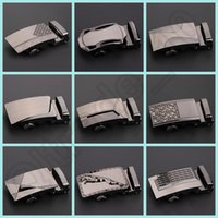 Wholesale 50PCS LJJH1283 Hot Sell Design business casual Alloy automatic buckle belts metal buckle belt man belt buckle in stock