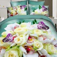 best nursing cover - 1509 LILIYA D Bedding Sets Best Quality Bed Sheet Duvet Cover Pillowcase Bohemian Bedding Flower D Comforter Bedding Sets