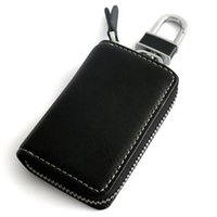 audi leather case - Alloy Keychain Genuine Leather Car Key Case Holder Cover For BENZ TOYOTA AUDI BMW Hyundai KIA Ford Honda Mazda Subaru Car