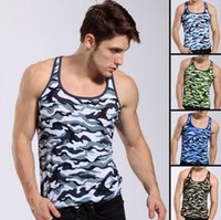 camouflage tank top - Hot Sports basketball camouflage tank Tops men s singlet underwear gym workout gilet Undershirt Stretch men undershirt mix order
