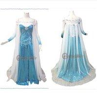 Cheap frozen elsa cosplay Best princess elsa dress adult