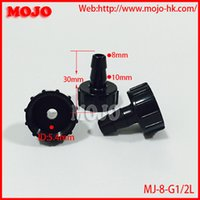 Wholesale MJ G1 L min diameter mm staight pipe joint Female adapter Cap hose connector