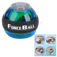 Wholesale L109Gyroscope Power Force Ball LED Gyro Wrist Ball With Speed Meter Counter New