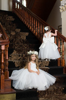 baby angels images - 2016 White Cute Angel Baby Flower Girl s Dresses Scoop Neck Lace Top Princess Long Dresses for Toddler Backless Kid s Wear with Bow Sash