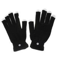 Wholesale LED Gloves Rave light show fingers Colorful Lighting glove Raver Blacked Out Gloves RGB LED Colors Light Show Gloves pc pairs