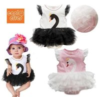 romper - new girls Triangle Romper Lovely swan tutu sleeveless styling climbing clothes baby Veil Romper
