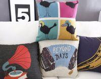 Cheap IKEA color Music bird pillow cover,bananas Pillow cushion cover,Linen pillow case,cushion home decor,decorative Pillows