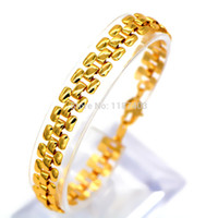 Wholesale luxury Chain Bracelets Fashion Jewelry gifts K Real Gold Plated Classic Design Trendy Unisex Bracelets Bangles B40152