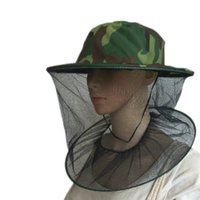Wholesale Practical Camouflage Field Jungle Mesh Face Mask Cap Mosquito Bee Bug Insect Fishing Hat