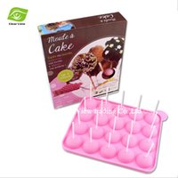 cake pop sticks - FDA Test Food Safety Units Silicone Non Stick Cake Pop Set Baking Tray Mold For Birthday Party Sweets Make Tools Box Packing dandys