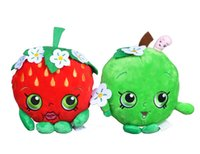 apple tv hot - 30pcs cm Shopping Plush Doll Toy Cartoon Fruit Stuffed Toy Cookie Strawberry Kiss Apple Hot Toys For Children Birthday Gift Fruit Toy