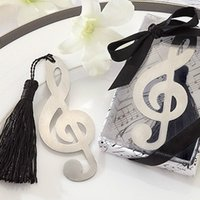 Wholesale 100PCS Music note Bookmark with Elegant Tassel Wedding party favors guess gifts