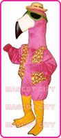 africa birds - Mascot Pink Flamingo Birds Mascot Adult Costume Africa Animals Bird Flamingo Mascotte Fancy Dress for Carnival Holiday Party