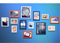 wood photo frame - Picture Quadros Decorativos Frame Set Wood Material Cheap Photo Frames Wall Frames Combination Square Frame More beautiful