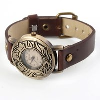 Wholesale Valia Watch Carved flowers style Dial Quartz bracelet Leather Wrist Watch for girl women watch waitingyou