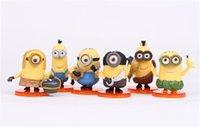 Wholesale Minions Despicable Me set kids toys minion Keychain Keyring minions Cute PVC Toys Figure Model Dolls Christams Gift
