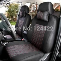 car seat covers - Free shopping Universal Car Seat Cover For Haima cars s7 haima m3 seats with silk Material pillows as gift Logo