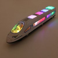 Wholesale 18 inch Electric Bullet Train Toy LED Flashing Lights Sounds Child Kid Boy Girl gift