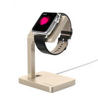 Wholesale Top Quality Aluminum Mental Dock For Apple Watch mm mm Charging Stand Holder Keeper Wireless Charging Stand smart Bracket