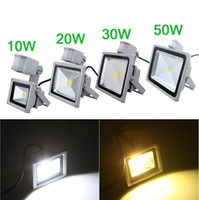 Wholesale 110V V W W W W PIR LED Flood light White Warm Floodlight Motion Sensor A85V V Outdoor Garden Lamp LED wash light