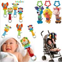 stroller baby - Baby Infant Soft Animal Handbells Rattles Bed Bell Stroller Developmental Toy DH04