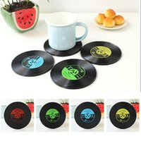 vinyl record - 1 PC Retro Vinyl CD Album Record Drinks Coasters Bar Table Cup Glass Skid Mat Holder Home Creative Decor Coffee Drink Placemat