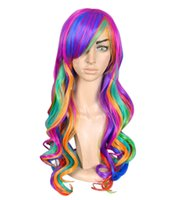 Wholesale Dance parties dedicated lady cosplay wigs inches synthetic hiar wig colors long curly wig BE0003
