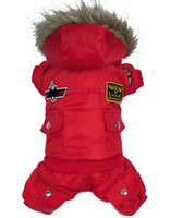 Wholesale Low Price Hot Winter Warm Small Dog Pet Clothes Padded Hoodie Jumpsuit Pants Apparel XS XL