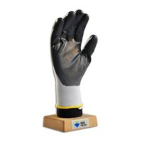 Wholesale 1012 Grey Nitrile Coated Gloves with White nylon or polyester shell