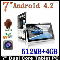 Wholesale 7 inch tablet Q88 Android tablet pc Allwinner A23 tablet Dual core tablet Ghz Dual camera With Flashlight Wifi external G JBD Q8