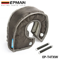 Wholesale EPMAN Carbon Fiber Turbo Blanket heat shield Cover FOR Fits T4 GT45 GT40 GT47 Medium Sized Turbo Charger EP T4TXW