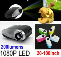 3d projector - 1080P Mini D Projector Multimedia LED Projector Home Education Cinema Video AV TV VGA HDMI USB