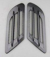 automotive hood vents - DZ Carbon fiber Automotive air intake vent hood decoration case for Ford Focus Chevrolet Cruze Mazda Opel KIA