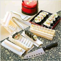 bamboo sushi roll mat - Sushi shape knife sushi device piece set rice cake mould diy sushi