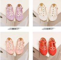 color shoe laces - 2015 Children s Girls Korean Girls Lace Princess Shoes Breathable Shoes Candy Color Rivet Grace Shoes Pairs B