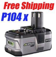 Wholesale pack Ryobi V Battery P104 Lithium Li Ion TOOL batteries One plus Ah MOQ order lt no track