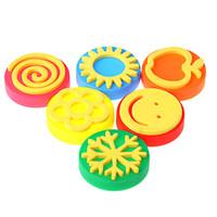 Wholesale 6pcs set ml Finger Paint Painting Colors Learning Education Drawing Toy Fingers Art