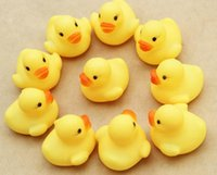 Wholesale DHL free Baby Bath Water Toy toys Sounds Yellow Rubber Ducks Kids Bathe Children Swiming Beach Gifts DHL