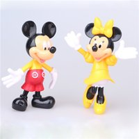 Wholesale Mickey Mouse And Minnie pink Lovely doll plush toys figure action pvc plastic children baby girls kids toys cake gift