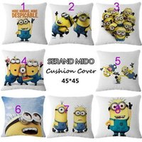 best lumbar pillow - best selling CM despicable me cartoon cushion covers lovely despicable me minions office home linen pillow cover lumbar pillow cover